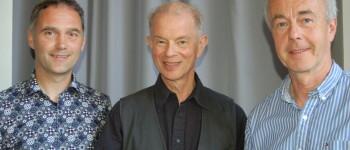 Jugenddorf-Einrichtungsleiter Elmar Schäfer (v.l.n.r.), Prof. Dr. Alexander Trost, Schulleiter Michael Brockmeier.